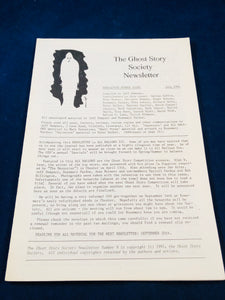 The Ghost Story Society Newsletter - Number 8, July 1991, Jeff Dempsey