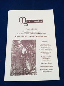 Machenalia - Winter 2006, The Newsletter of the Friends of Arthur Machen