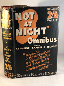 Christine Campbell Thomson -Not at Night Omnibus, Selwyn & Blount 1936, 1st Edition