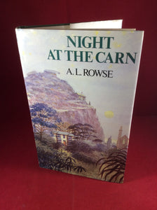 A. L. Rowse, Night at the Carn and Other Stories, William Kimber, 1984, First Edition, Signed.