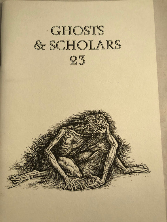 Ghosts & Scholars - Haunted Library, Rosemary Pardoe 1997, Issue 23