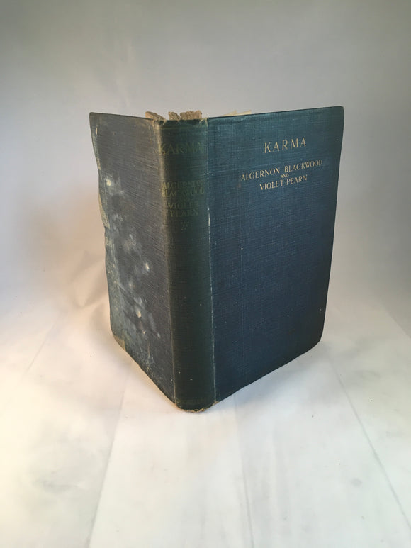 Algernon Blackwood & Violet Pearn - Karma, Macmillan and Co Ltd 1918, Signed Violet Pearn, First edition