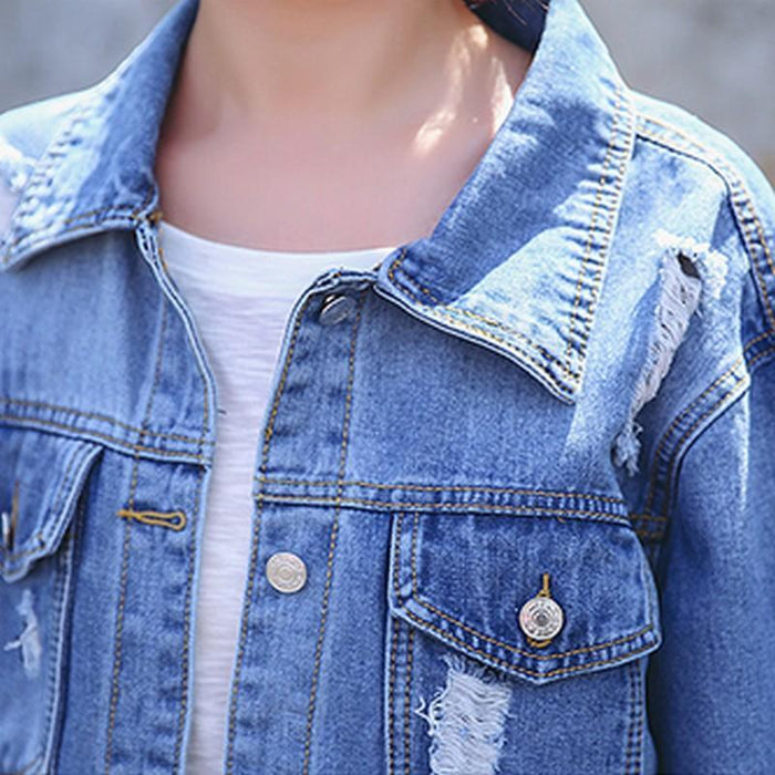 Aesthetic-BEAT UP JEAN JACKET