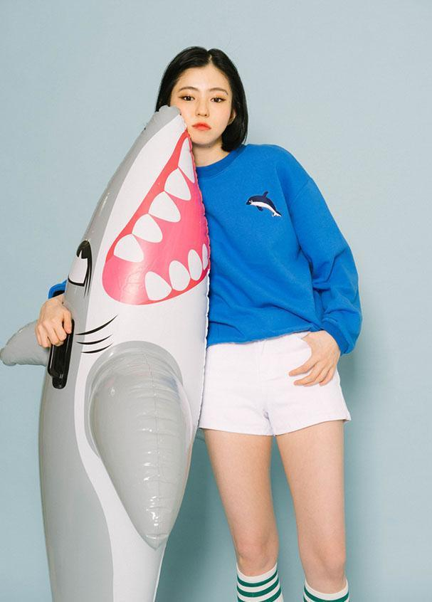 Aesthetic-CUTE DOLPHIN PULLOVER