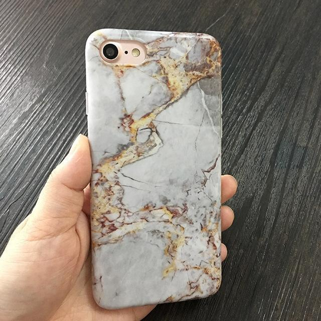 Aesthetic-Marble Stone Gel iPhone Cases