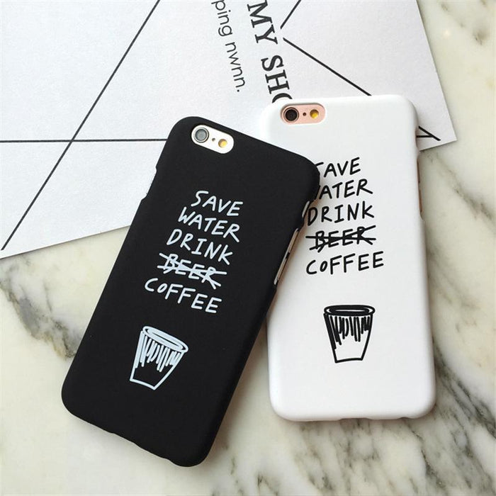 Aesthetic-Save Water Drink Coffee iPhone Cases