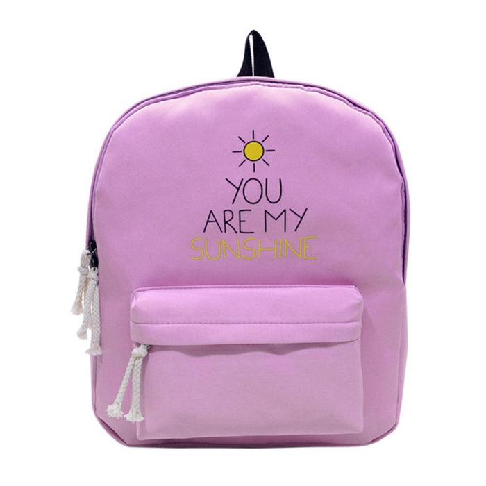 Aesthetic-You Are My Sunshine Backpack