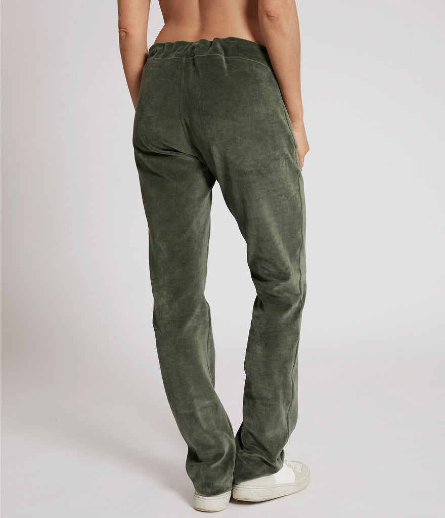 Alma velour trousers</br>Green