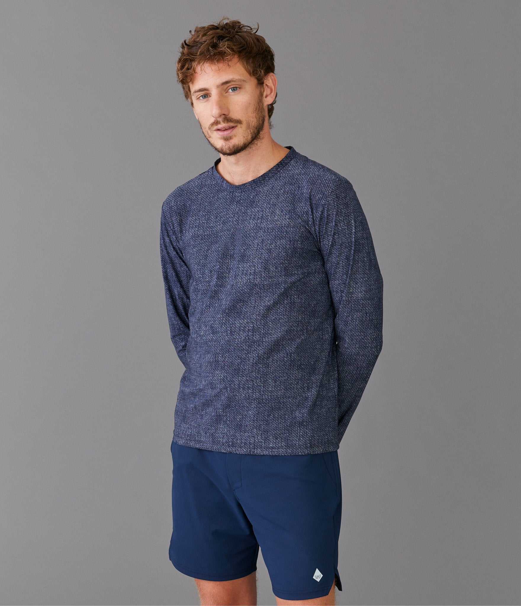 Rome long sleeve t-shirt</br>Dark blue melange