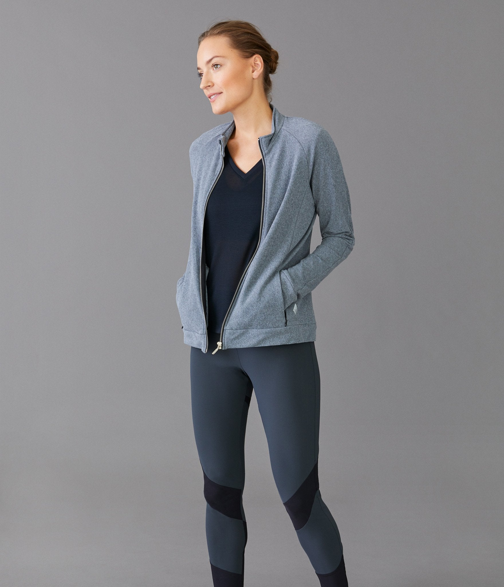 Chicago zip jacket</br>Grey