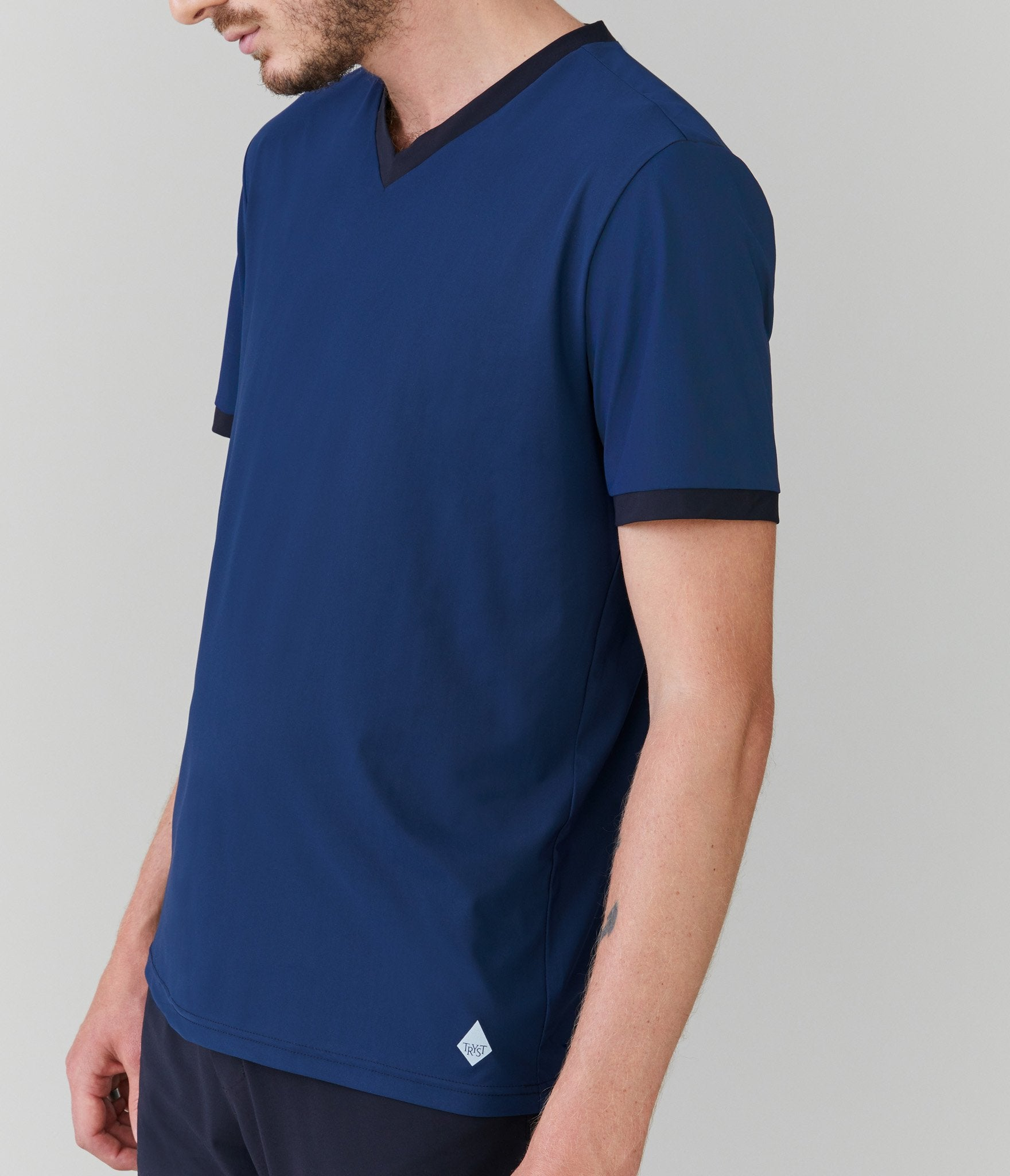Monaco t-shirt</br>Dark navy/black