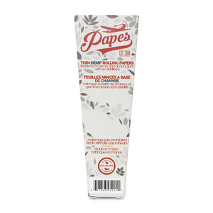 Papes King Size Natural Hemp Cones