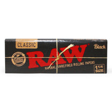 "RAW Black 1 1/4"" Rolling Papers"
