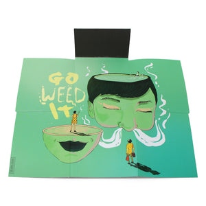 CASE ON IT Folding Rolling Tray - Go Weed It