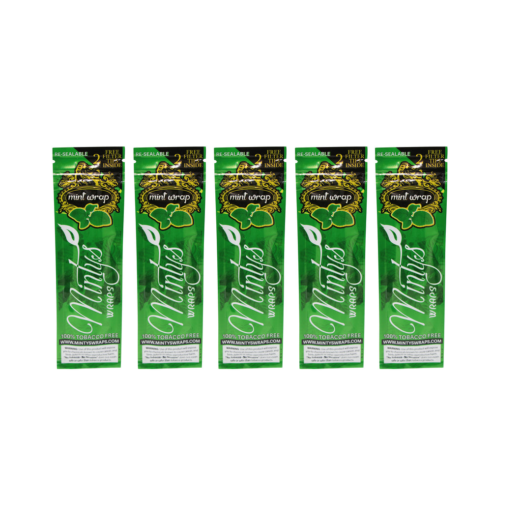 Minty's Organic Mint Wraps Combo Pack (5)