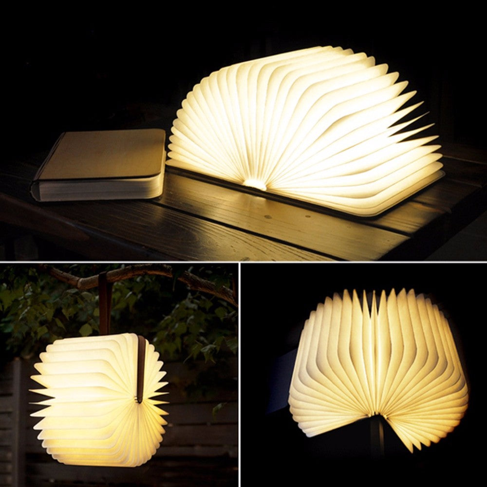 LED Foldable Wooden Book (Bundle Promotion Today!)