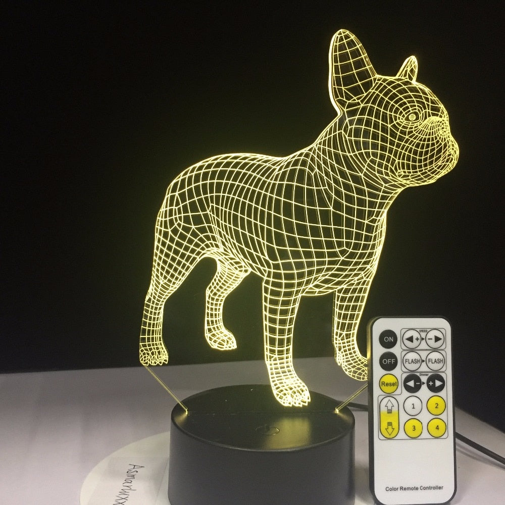 French Bulldog 3D Table Lamp USB