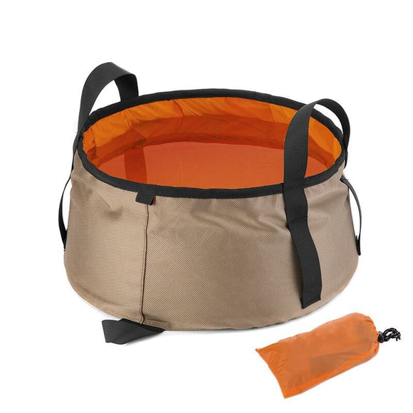 10L Ultralight Outdoor Nylon Folding Water Washbasin Portable Wash Bag Foot Bath Camping Equipment outdoor tool
