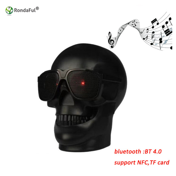 Skull Shape Wireless Bluetooth Speaker Sunglass Skull Speaker Mobile Subwoofer Multipurpose Speaker Music Column Loud Speaker