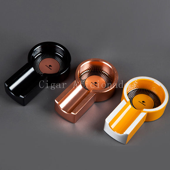 COHIBA MINI Gadgets Portable Titanium Alloy Mini Titanium Alloy Travel Tobacco Cigar Ashtray Holder 1 Rest