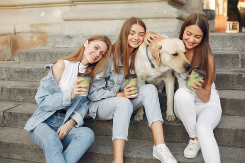 Girls with Dog, The Pup Cup: Every Dog's Favorite Treat