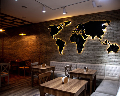 World Map Cafe, How to Decorate Your Coffee Shop