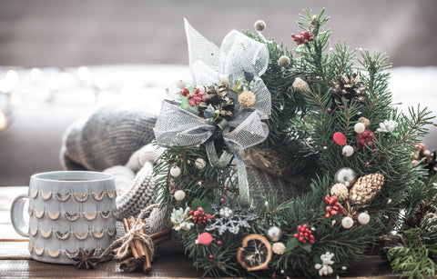 Wreath, How to Decorate Your Coffee Shop for the Holidays