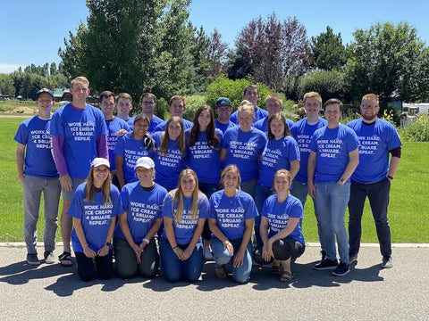 Team in Blue Shirts, What Does it Mean to Build People and Deliver Joy?
