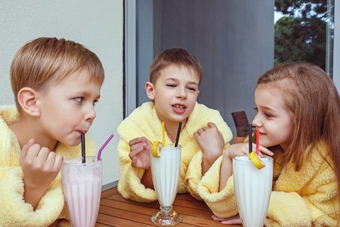 Kids with Milkshakes, How to Make a Rainbow Frappe
