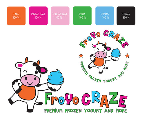 Froyo Craze, How to Create an Effective Logo for Your Coffee Shop