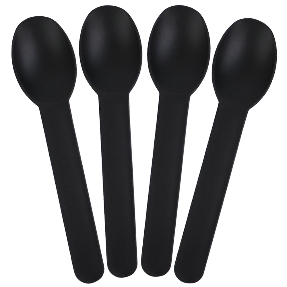 UNIQ Black Heavy Duty Frozen Yogurt Spoons