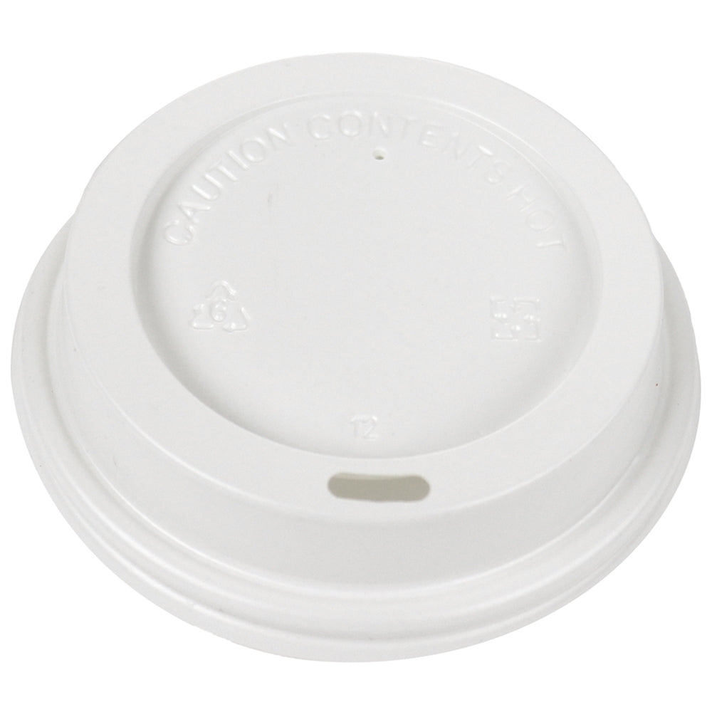Hot Paper Cup Lids - White - 8 oz
