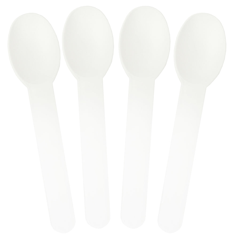 UNIQ White Heavy Duty Frozen Yogurt Spoons
