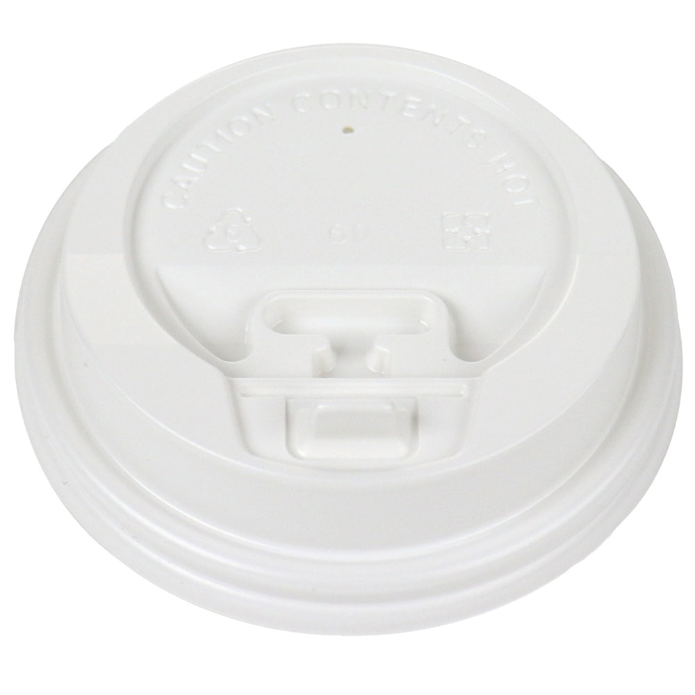 UNIQ® White Flip Top Hot Paper Cup Lids - 8 oz