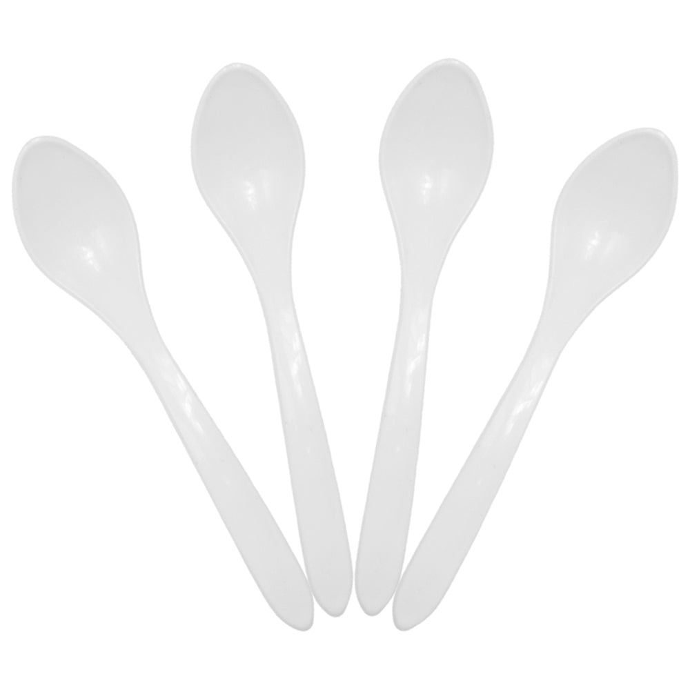 UNIQ Curve White Ice Cream Spoons