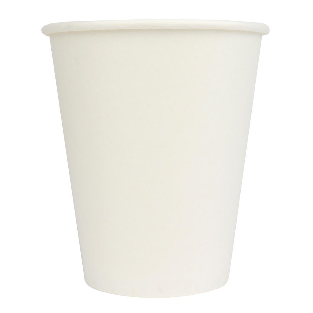 10 oz White Single Wall Hot Paper Coffee Cups