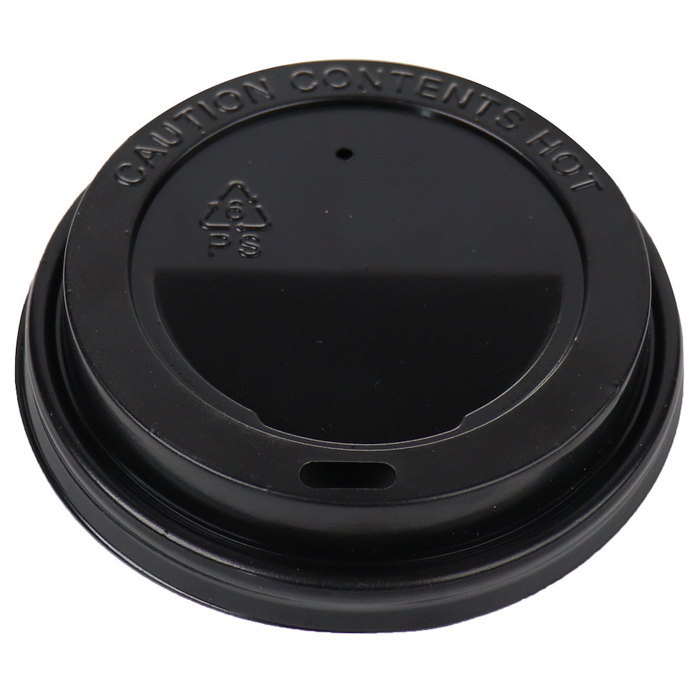 Hot Paper Cup Lids - Black - 8 oz
