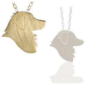Statement Friendship Golden Retriever Necklace