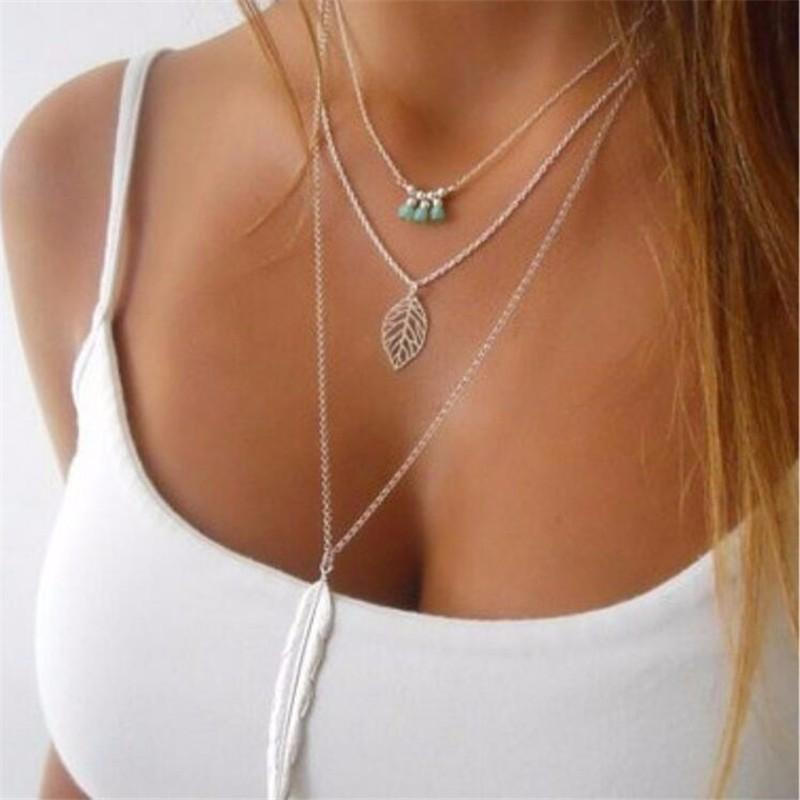 Leaf Long Pendant Necklaces-store-nir