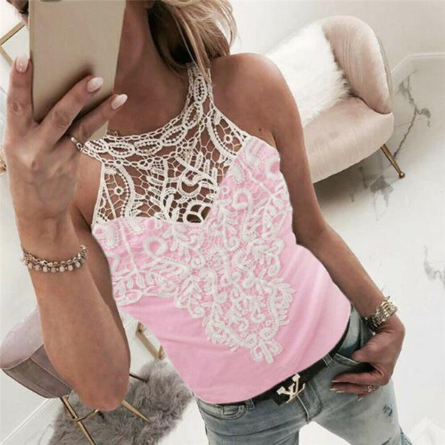 Lace Top Sleeveless Vest-store-nir