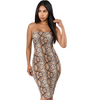 Snake Print Tube Midi Dress-store-nir