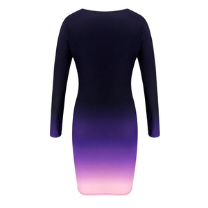 MultiColor Stretch Bodycon Dress-store-nir