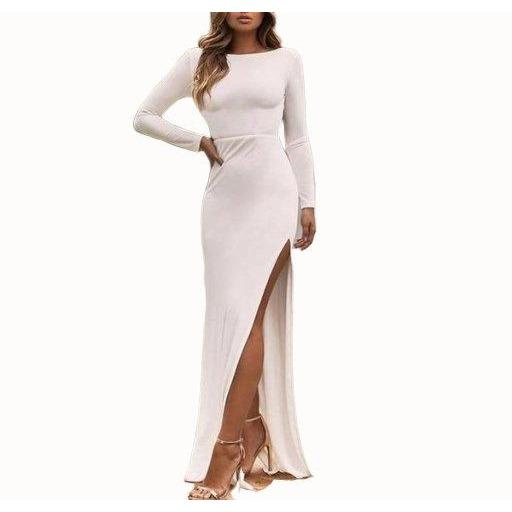 Backless Long Sleeve Dress-store-nir