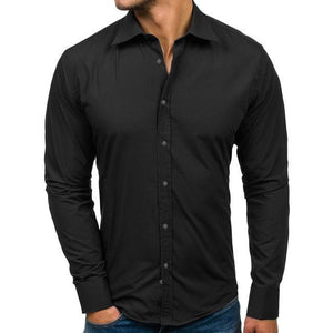 Solid Design Buttons Shirt-store-nir