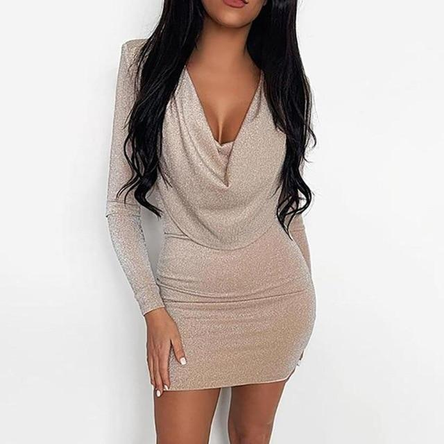 Shiny Bodycon Dress-store-nir