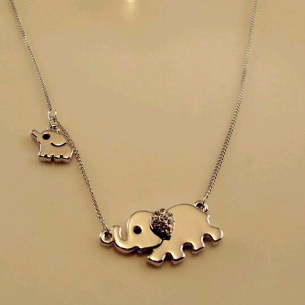 Elephant family necklace-store-nir