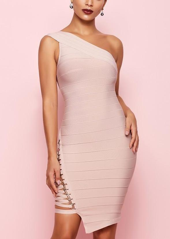 One Shoulder Sexy Dress-store-nir