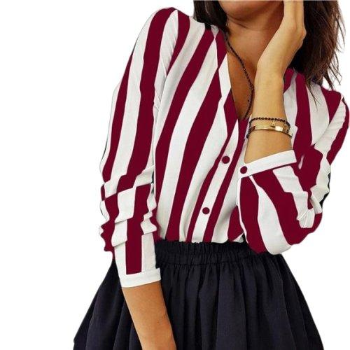 Buttoned striped shirt-store-nir