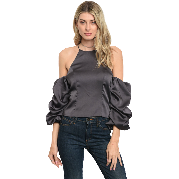 Satin Top-store-nir