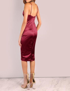 Satin Midi Slip Dress-store-nir